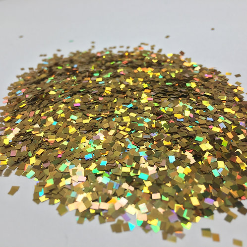 Glam Glitter- Extra Gold - 2mm Square