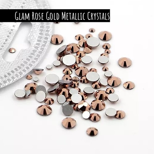 Glam Nail Art Crystals - Rose Gold Metallic (Mix)
