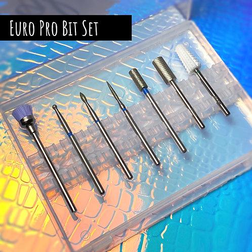 Glam Nail Bits - Euro Pro Bit Bundle 7pc + Bit Case!