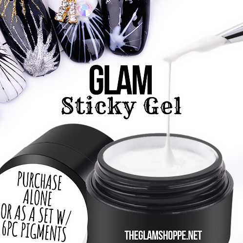 Glam Sticky Gel & 6 Pc Pigment Set