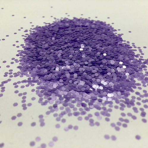 Glam Glitter- Pearl Lilac 1/16 Hex