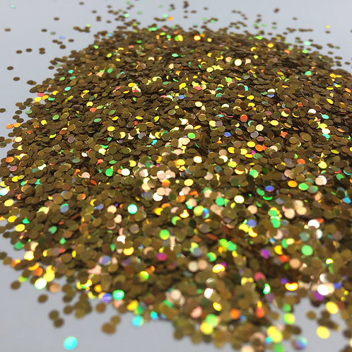 Glam Glitter- Extra Gold - 1mm Dots