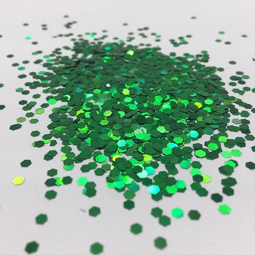 Glam Glitter- True Green 1/12 Hex