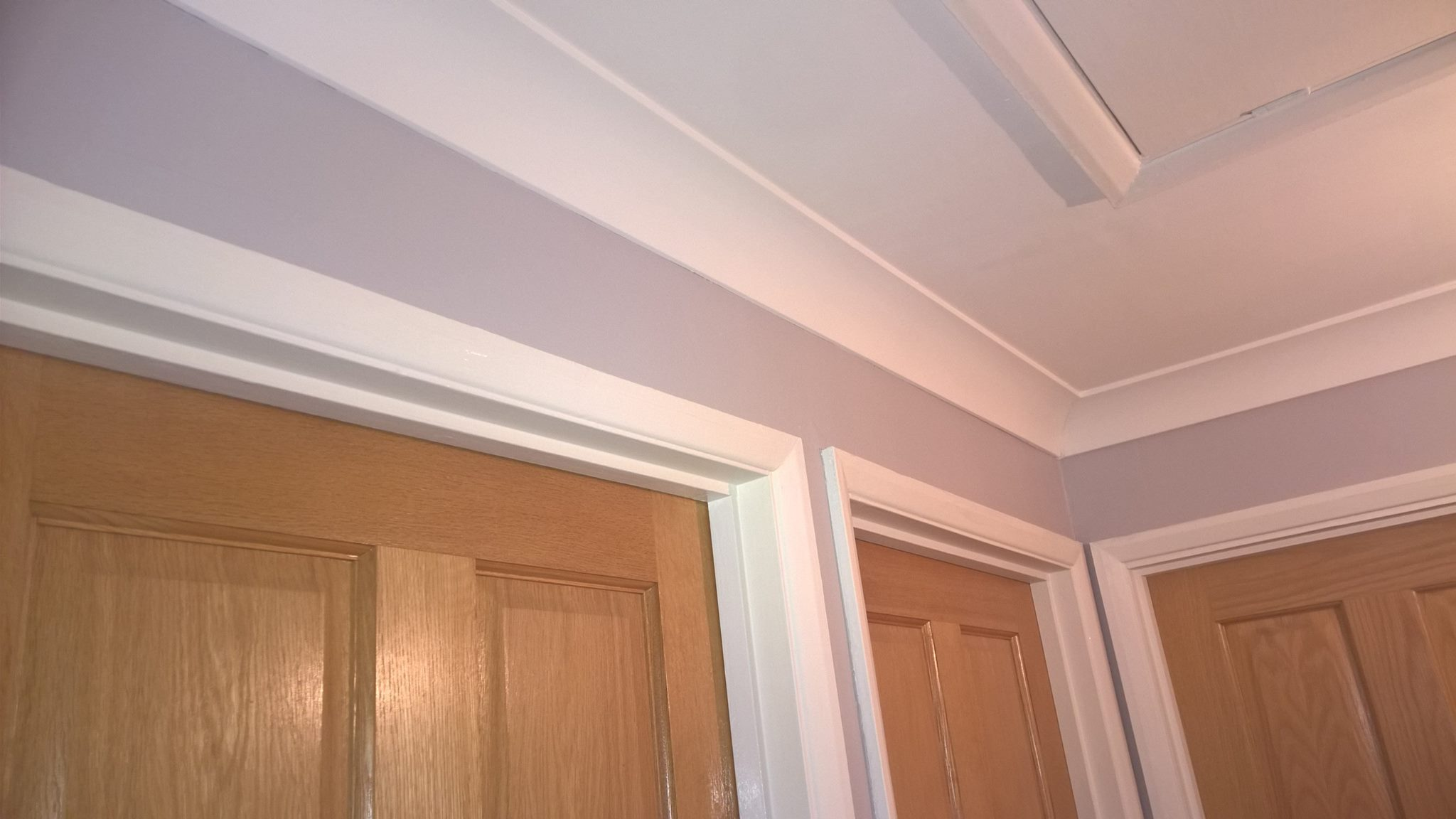 Coving fitted and painted