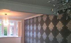 Lounge feature wallpapering