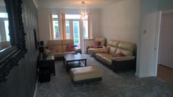 Living room painting & decorating