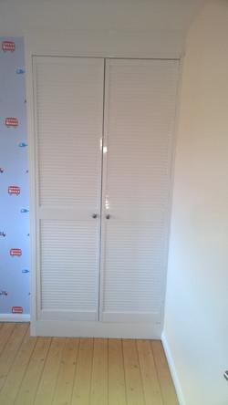 Louvred door painting