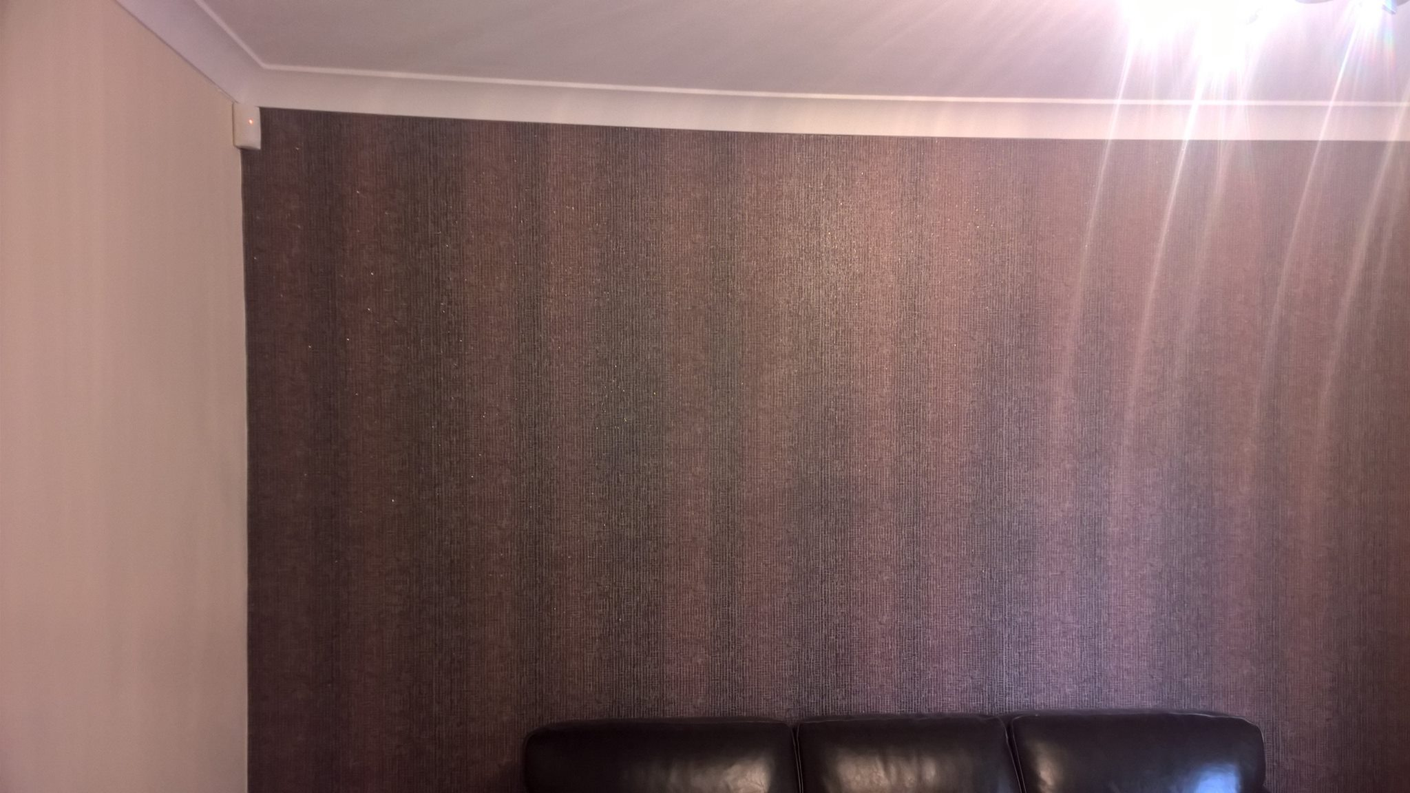 Feature wall in a family room