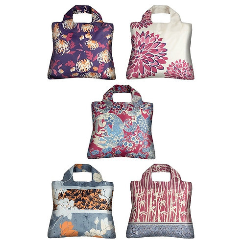 Envirosax Oriental Spice Reusable Five-Bag Set with Pouch