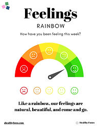 Feelings Rainbow with a Healthy Focus re