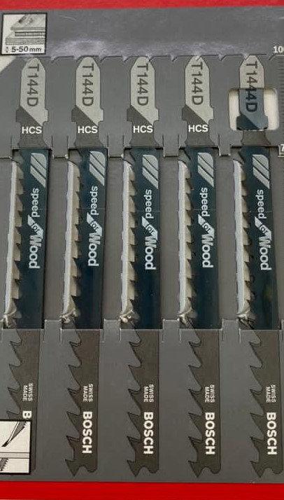 Bosch T144D Cutting Blades Five Packs of Five Blades Excluding VAT