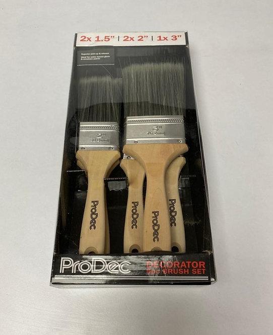 Prodec 5 Pce Decorator Brush Set Excluding VAT