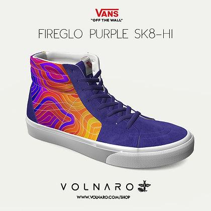 FireGlo Fingerprint Custom Vans SK8-Hi (Purple)