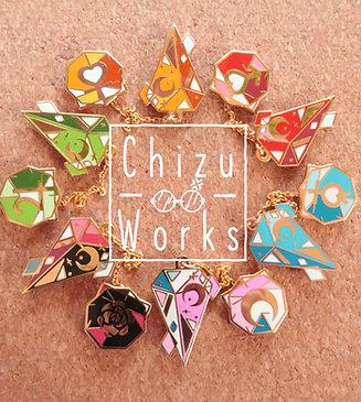 Sailor Moon Chain Enamel Pins Complete SET