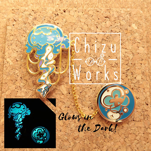 Jelly Fish [Glow in the Dark] Chain Enamel Pin