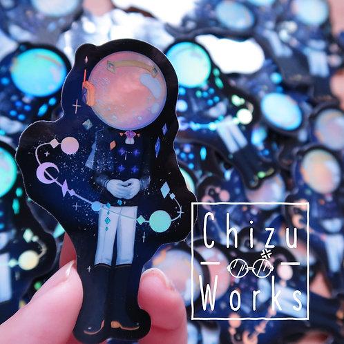 Holo Galactic Pretty Boy Sticker