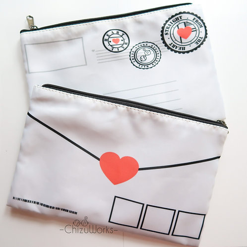Love Letter Pencil & Makeup Pouch