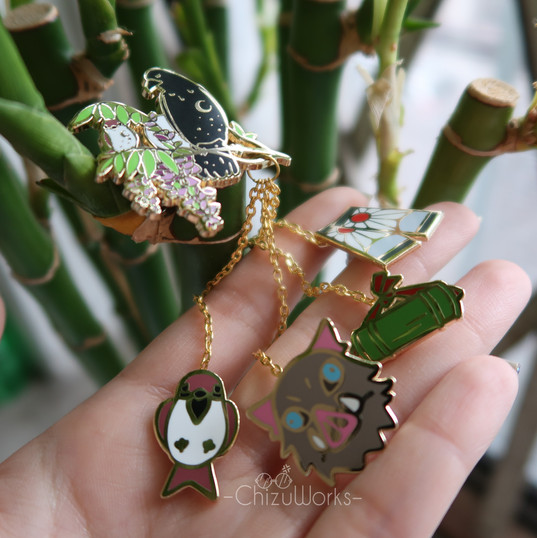 Demon Slayer Chain Pins