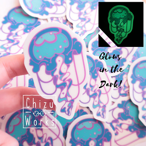 Glow in the Dark Jelly Fish Sticker