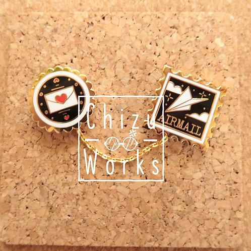 Love Letters Chain Enamel Pin