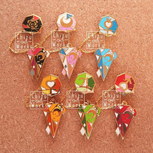 Sailor Moon Chain Enamel Pins