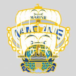 One Piece: Marine Warship Chain Enamel Pin