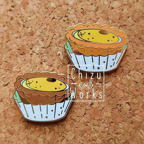 Egg Custard Tart Enamel Pin