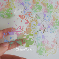 Clear Koi Sticker