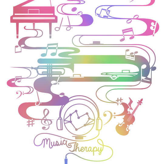Commission T Shirt Design: Music Therapy Rainbow