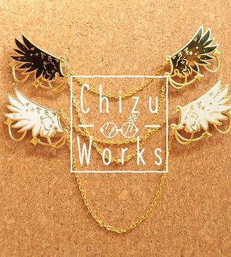 Wings Chain Enamel Pin