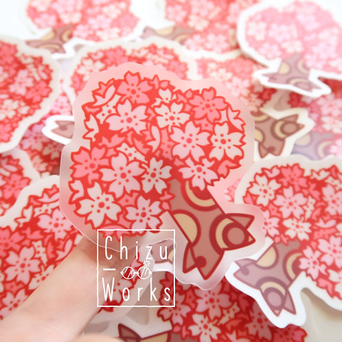 Animal Crossing Sakura Tree Sticker