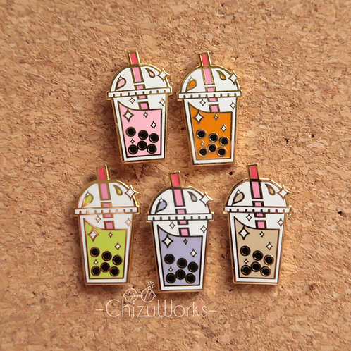 Bubble Tea Enamel Pin
