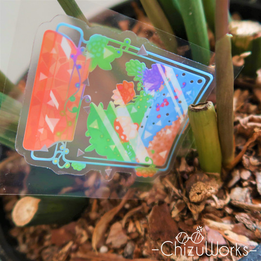 Clear Terrarium Sticker