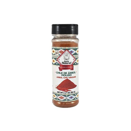 Acquista peperoncino di arbol macinato sazon natural per aggiungere un condimento piccante e delizioso alle vostre ricette