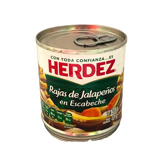 Acquista fette di jalapeño sottaceto 220 g per dare un sapore piccante e ricco al tuo cibo