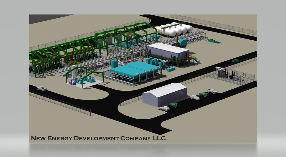 New Energy hydrgen production site layou