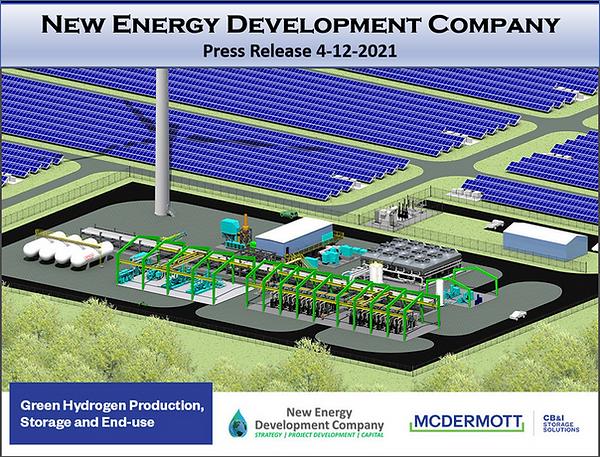 Green Hydrogen Schematic Press Release slide New Energy scott shields
