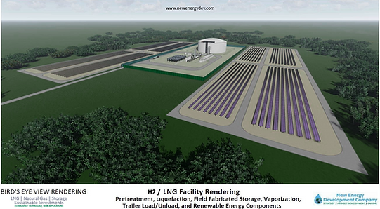Green LNG hydrgen development rendering