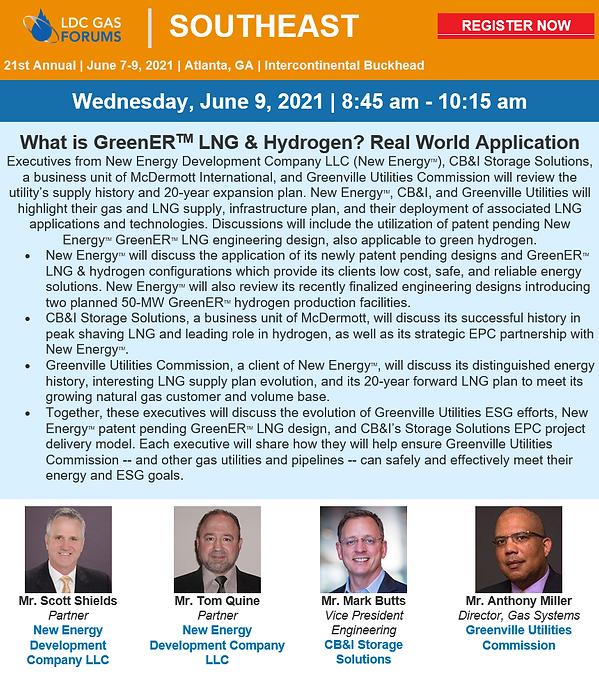 LDC Forum Atl New Energy Development CompanyScott Shields green hydrge
