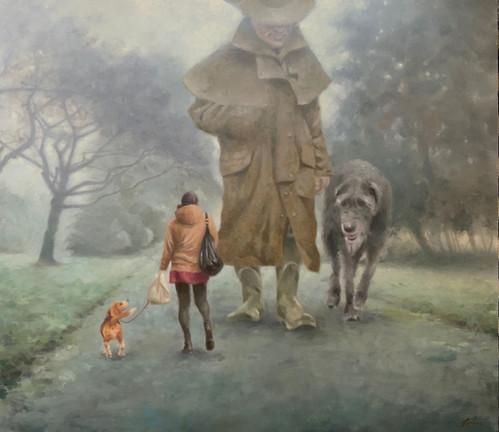 """""""Dog walkers in Springburn Park."""""""