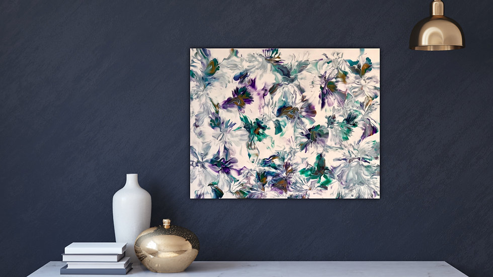 Abstract Floral 1 - Purple and Teal