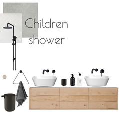 לוח השראה מקלחת ילדים