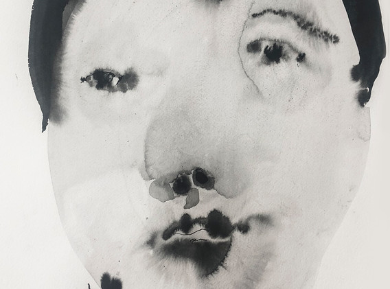 Portrait1_54x38.5cm_korean ink on paper_