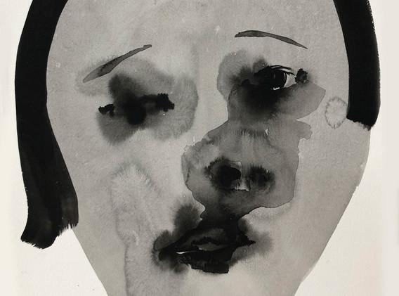 Portrait2_54x38.5cm_korean ink on paper_