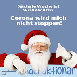 Der Weihnachtsmann zum Thema Corona
