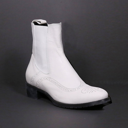 chelsea boots white (leather)