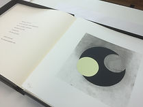 Print and poem from 12 Print Portfolio by Nigel Hall RA and Andrew Lambirth