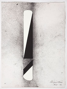 957 1994 38 x 28.5 cm charcoal and gouac