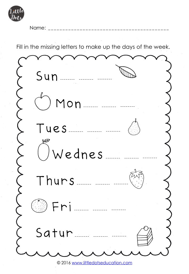 The Very Hungry Caterpillar Theme: Free Days Of The Week Printables An