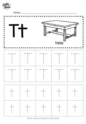 free letter t tracing worksheets. Black Bedroom Furniture Sets. Home Design Ideas